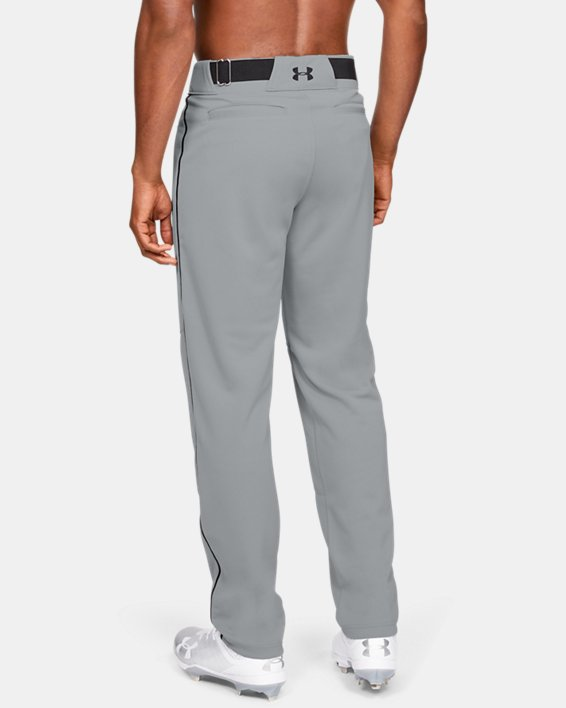 Men's UA Utility Relaxed Piped Baseball Pants, Gray, pdpMainDesktop image number 2