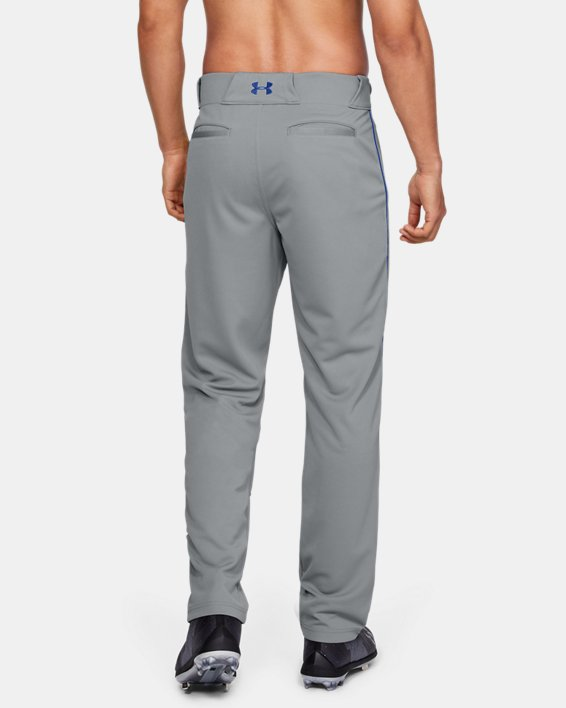 Men's UA Utility Relaxed Piped Baseball Pants, Gray, pdpMainDesktop image number 2