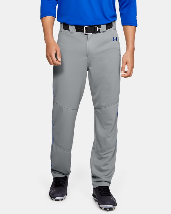 Men's UA Utility Relaxed Piped Baseball Pants, Gray, pdpMainDesktop image number 0
