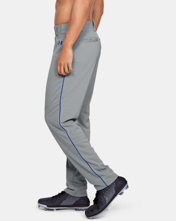 Men's UA Utility Relaxed Piped Baseball Pants, Gray, pdpMainDesktop image number 3