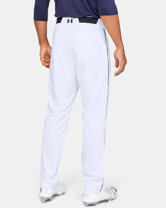 Men's UA Utility Relaxed Piped Baseball Pants, White, pdpMainDesktop image number 2