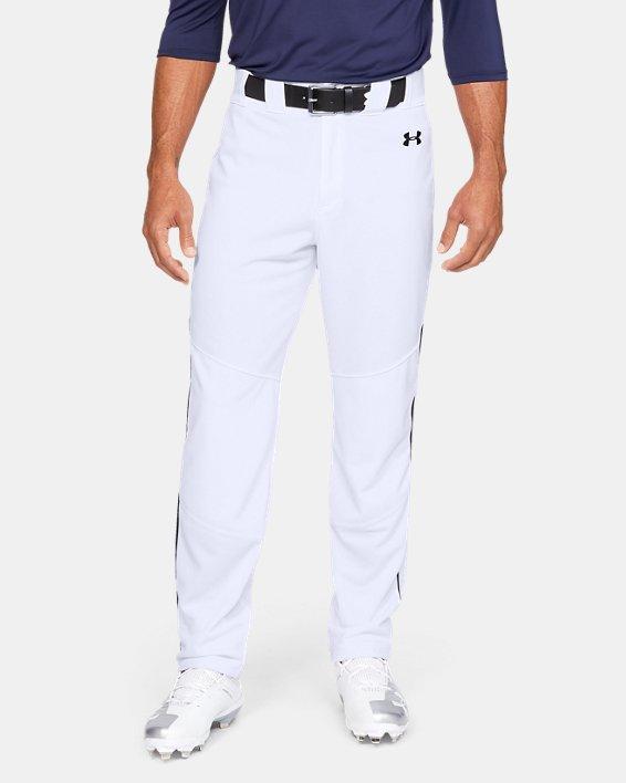 Men's UA Utility Relaxed Piped Baseball Pants, White, pdpMainDesktop image number 0