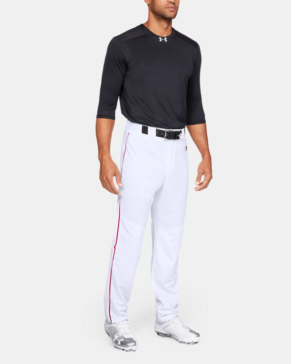Men's UA Utility Relaxed Piped Baseball Pants, White, pdpMainDesktop image number 1
