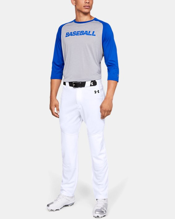 Men's UA IL Utility Relaxed Baseball Pants, White, pdpMainDesktop image number 1