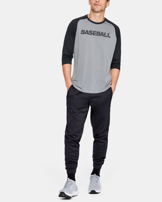 Men's UA Bullpen ¾ Shirt, Gray, pdpMainDesktop image number 1