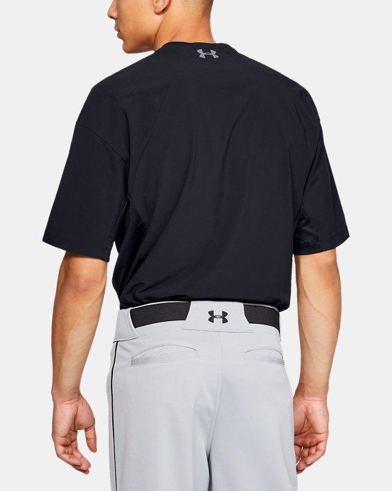 Men's UA Utility Short Sleeve Cage Jacket, Black, pdpMainDesktop image number 2