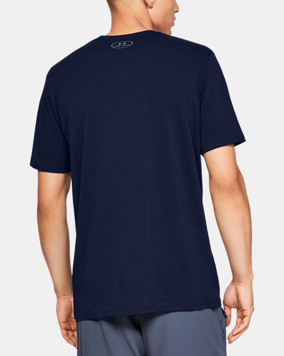 Men's UA Plate Icon Short Sleeve Shirt, Navy, pdpMainDesktop image number 2