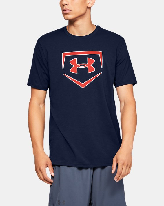 Men's UA Plate Icon Short Sleeve Shirt, Navy, pdpMainDesktop image number 0