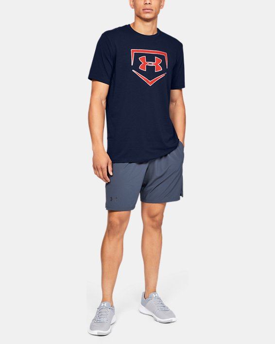Men's UA Plate Icon Short Sleeve Shirt, Navy, pdpMainDesktop image number 1