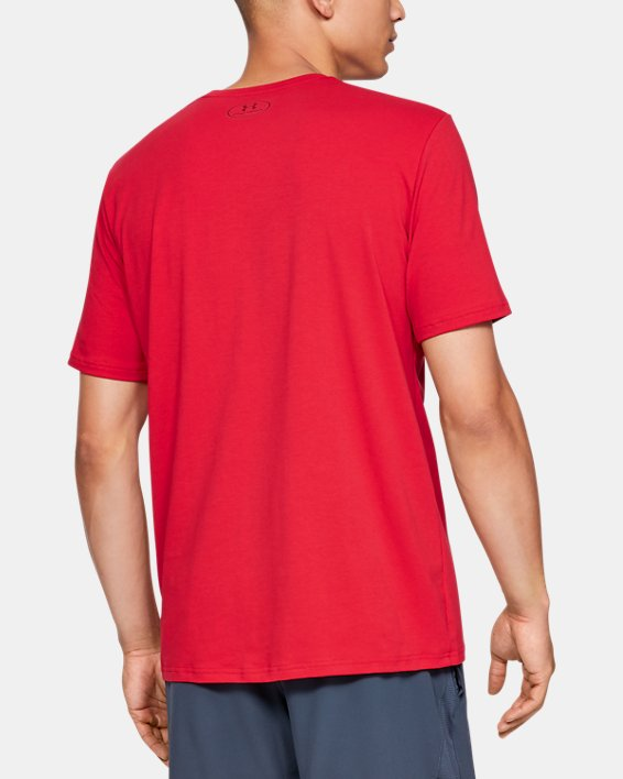 Men's UA Plate Icon Short Sleeve Shirt, Red, pdpMainDesktop image number 2