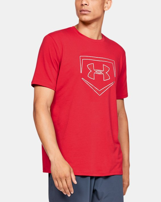 Men's UA Plate Icon Short Sleeve Shirt, Red, pdpMainDesktop image number 0