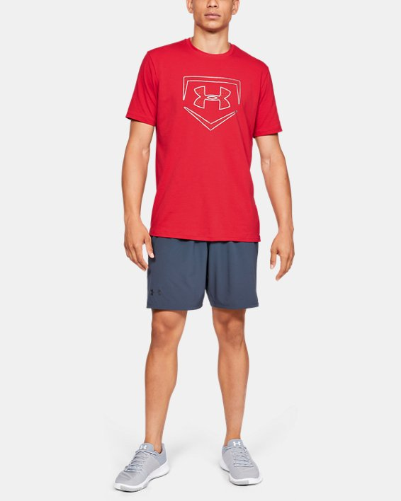 Men's UA Plate Icon Short Sleeve Shirt, Red, pdpMainDesktop image number 1