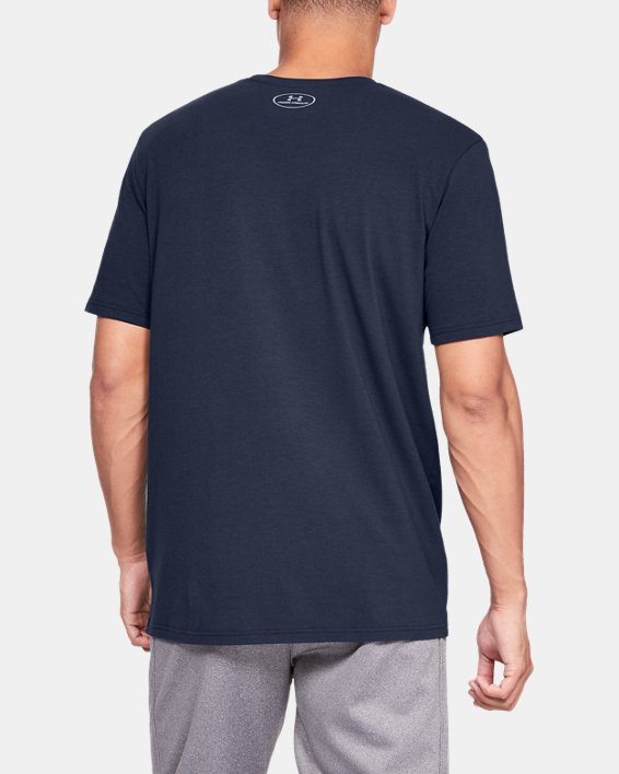 Men's UA Ready4Work Short Sleeve Shirt, Navy, pdpMainDesktop image number 2
