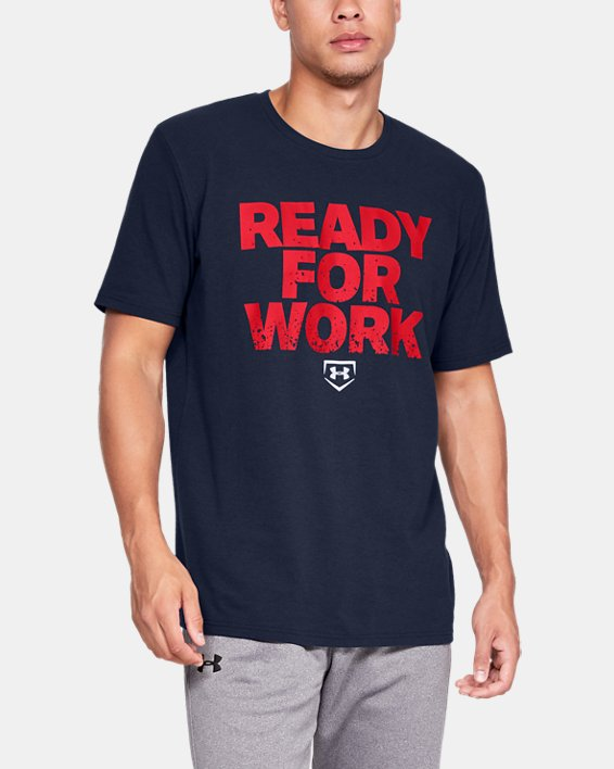Men's UA Ready4Work Short Sleeve Shirt, Navy, pdpMainDesktop image number 0