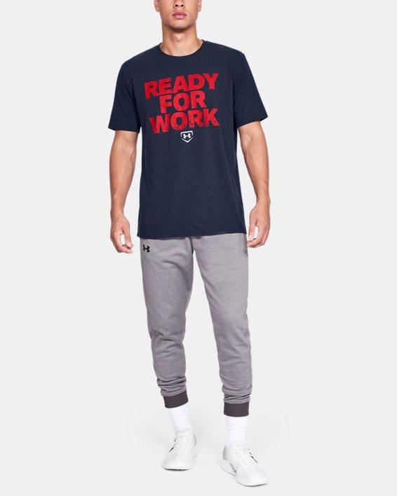 Men's UA Ready4Work Short Sleeve Shirt, Navy, pdpMainDesktop image number 1