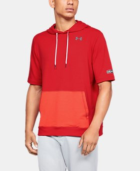 New Arrival  Men's UA Bullpen Short Sleeve Hoodie  1  Color Available $70