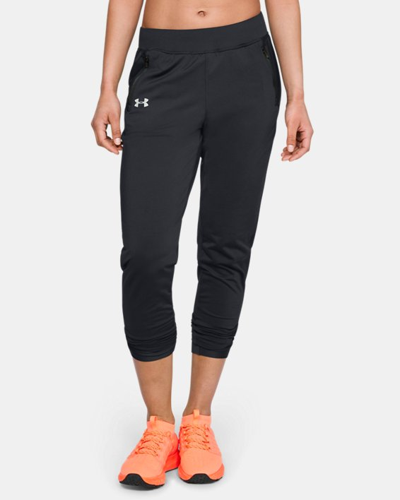 Women's ColdGear® Run Pants, Black, pdpMainDesktop image number 2