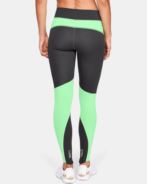 Women's UA OutRun The Storm Tights, Gray, pdpMainDesktop image number 2