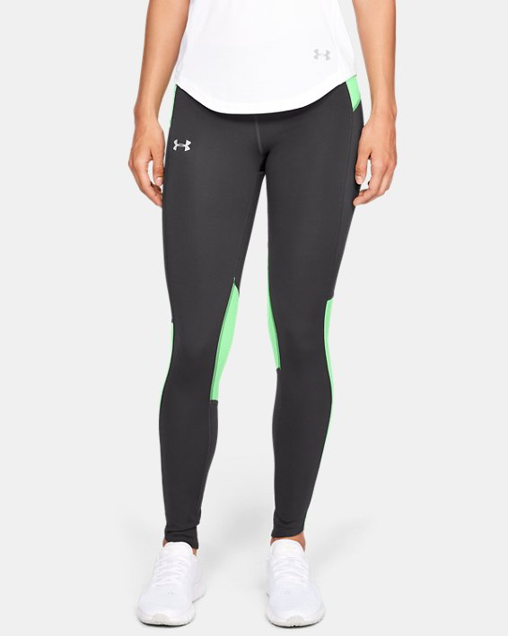 Women's UA OutRun The Storm Tights, Gray, pdpMainDesktop image number 0