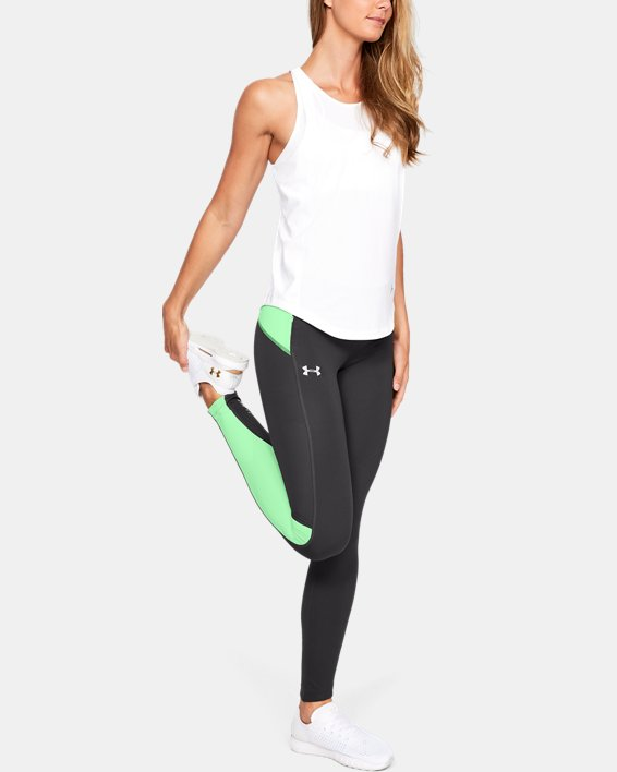 Women's UA OutRun The Storm Tights, Gray, pdpMainDesktop image number 1