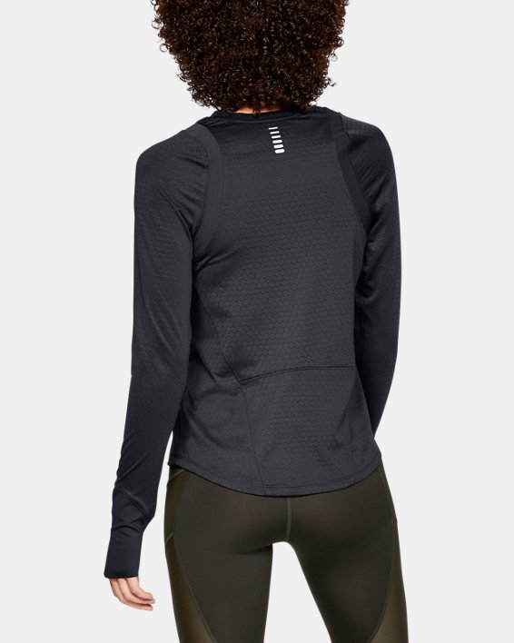 Women's UA HexDelta Long Sleeve, Black, pdpMainDesktop image number 2