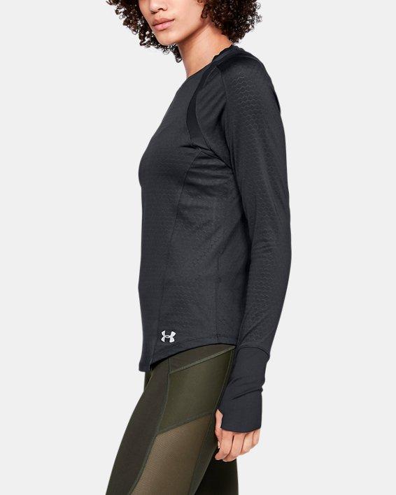 Women's UA HexDelta Long Sleeve, Black, pdpMainDesktop image number 3
