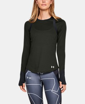 Women's UA HexDelta Long Sleeve  1  Color Available $65