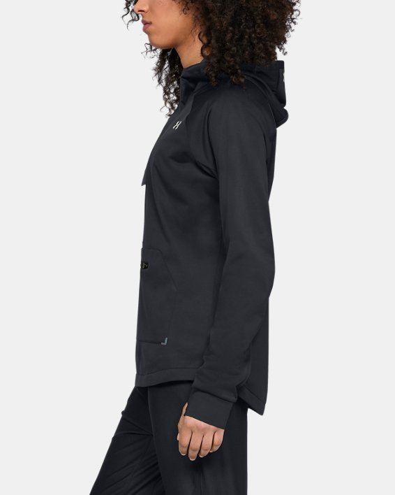 Women's ColdGear® Reactor Run Anorak, Black, pdpMainDesktop image number 4
