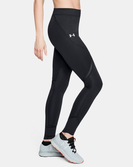Women's ColdGear® Reactor Run Tights, Black, pdpMainDesktop image number 3