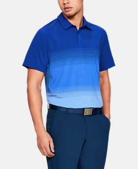 New Arrival  Men's UA Microthread Gradient Polo  1  Color Available $95