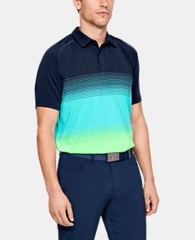New Arrival Men's UA Microthread Gradient Polo  1  Color Available $80