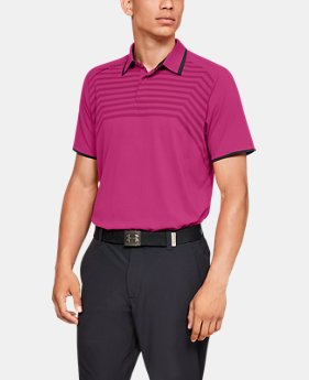 Men's UA Microthread Cross Hatch Polo  1  Color Available $95