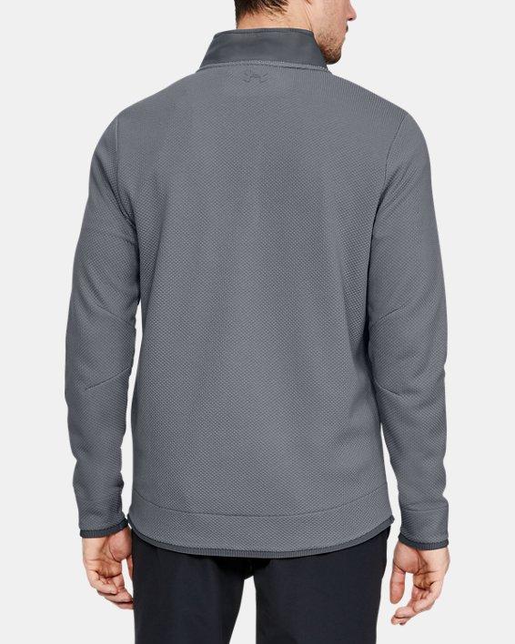 Men's UA Storm SweaterFleece Snap Mock, Gray, pdpMainDesktop image number 2