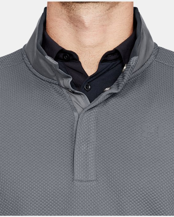 Men's UA Storm SweaterFleece Snap Mock, Gray, pdpMainDesktop image number 5