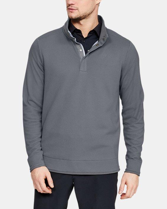 Men's UA Storm SweaterFleece Snap Mock, Gray, pdpMainDesktop image number 0