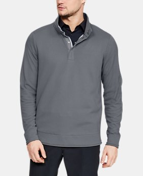 Best Seller Men's UA Storm SweaterFleece Snap Mock  4  Colors Available $75