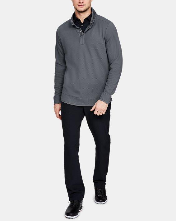 Men's UA Storm SweaterFleece Snap Mock, Gray, pdpMainDesktop image number 1