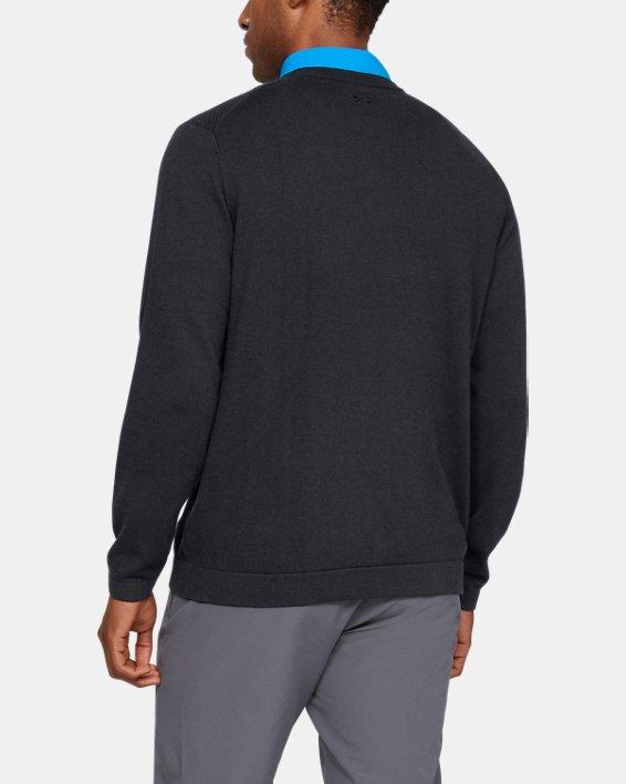 Men's UA Threadborne Crew Sweater, Black, pdpMainDesktop image number 2