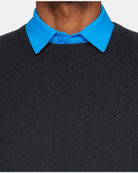 Men's UA Threadborne Crew Sweater, Black, pdpMainDesktop image number 6