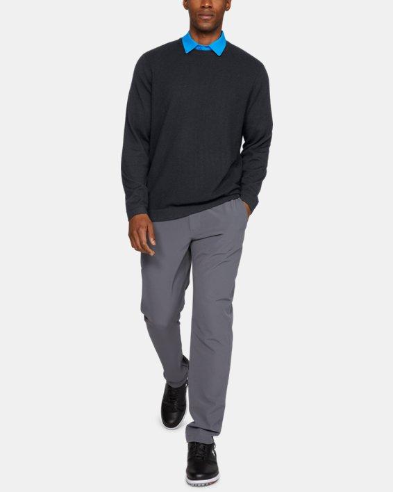 Men's UA Threadborne Crew Sweater, Black, pdpMainDesktop image number 1