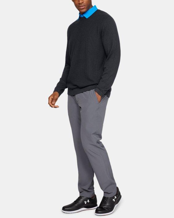 Men's UA Threadborne Crew Sweater, Black, pdpMainDesktop image number 7