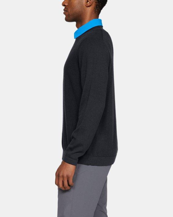 Men's UA Threadborne Crew Sweater, Black, pdpMainDesktop image number 3