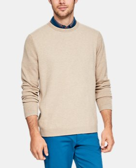 New Arrival Men's UA Threadborne Crew Sweater  5  Colors Available $100