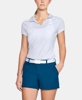 Women's UA Microthread Polo  1  Color Available $65