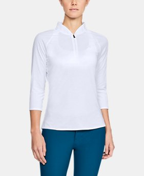 New Arrival Women's UA Microthread Edge Zip Polo  1  Color Available $65