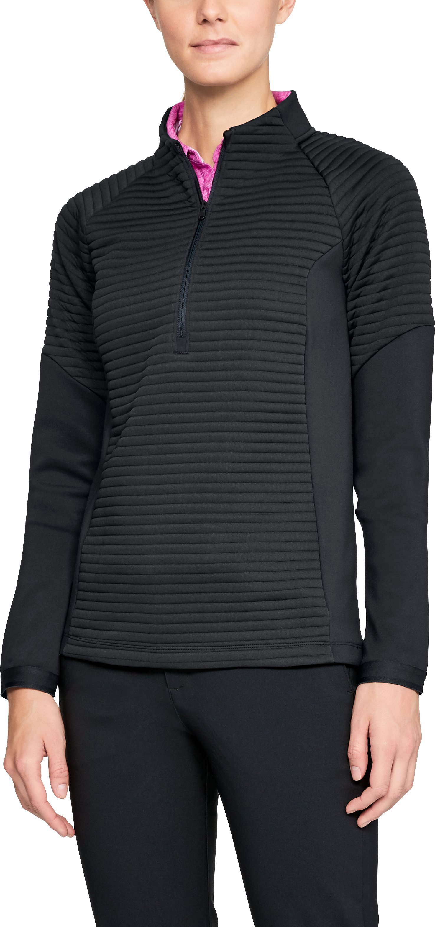 Women's UA Storm Daytona Versa ½ Zip, Black