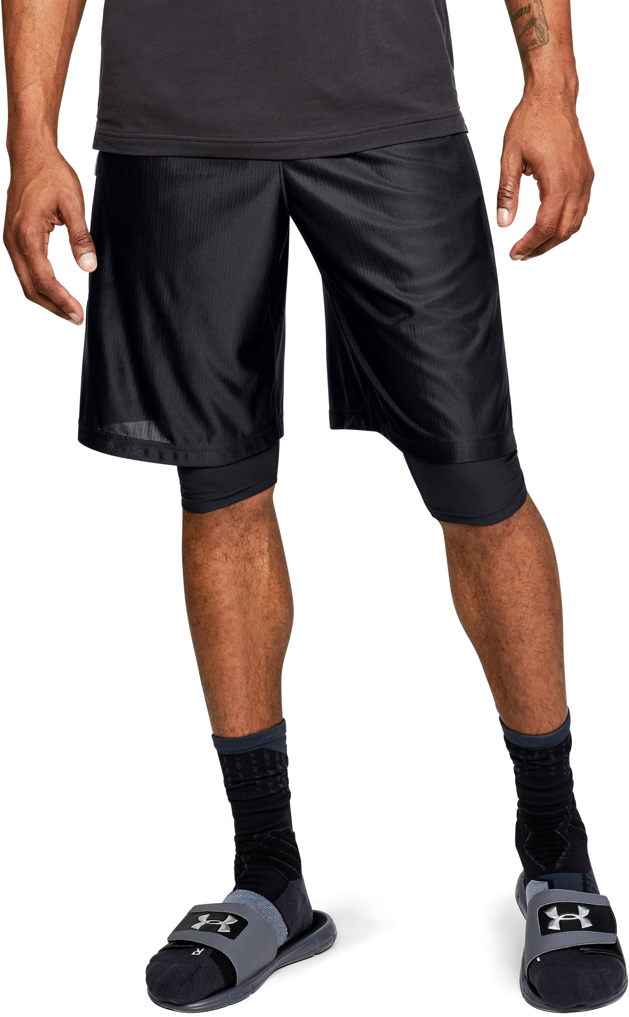 Men's UA Perimeter Shorts, Black ,