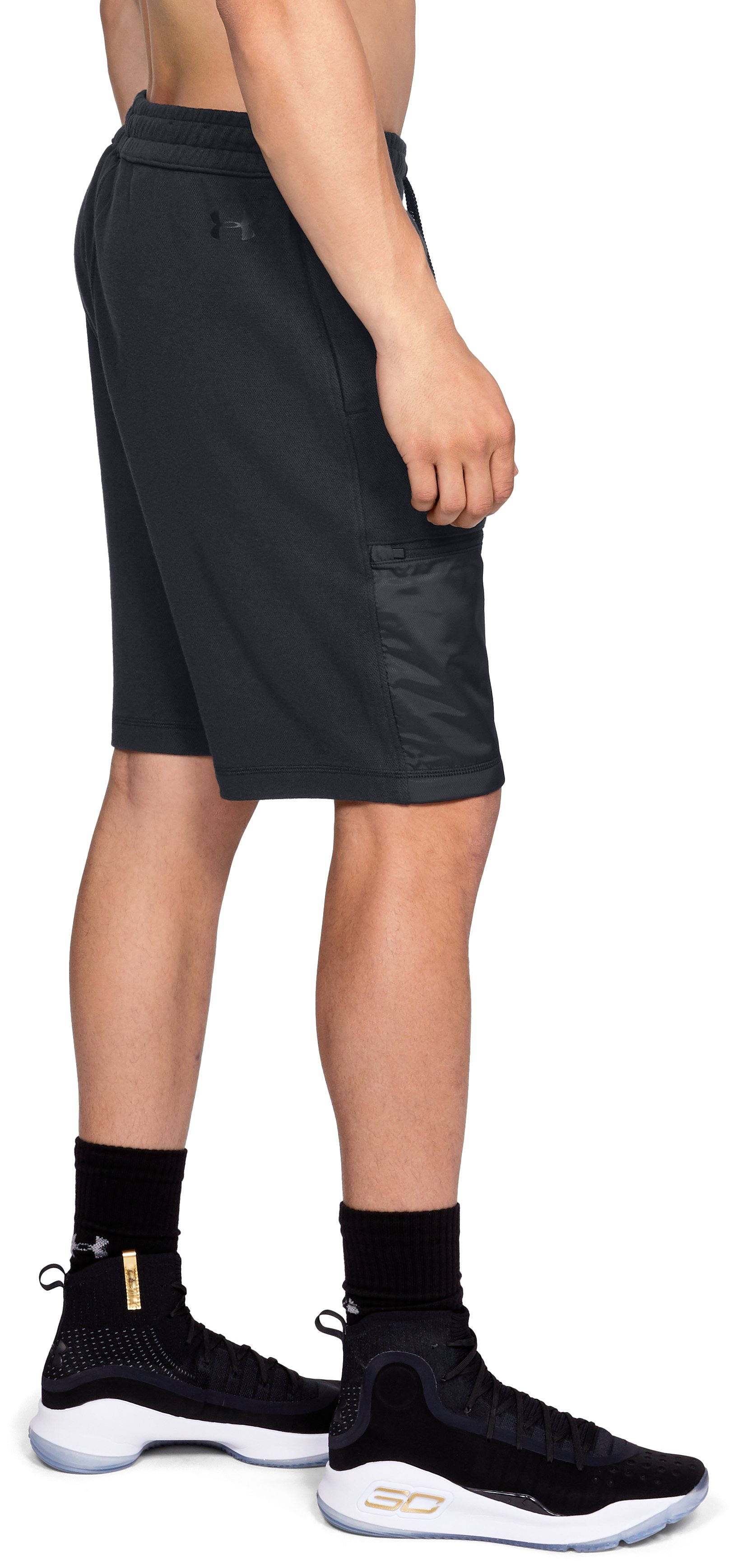 Men's UA Pursuit Microthread Shorts, Black ,