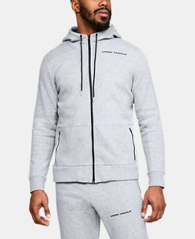Men's UA Pursuit Microthread Full Zip Hoodie  1  Color Available $80