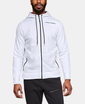 New Arrival  Men's UA Pursuit Microthread Full Zip Hoodie  1  Color Available $100